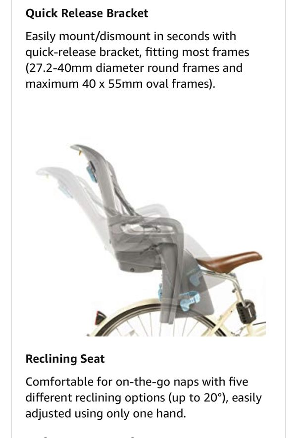 Child bike seat, Thule RideAlong