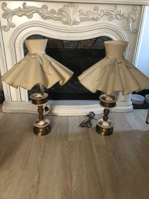 Set of two antique lamps for Sale in Denver, CO