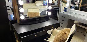 Black & Gold Iconi Vanity set @ Empire Furniture for Sale in Huntington Park, CA