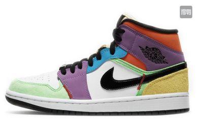 """[李佳琦推荐] Air Jordan 1 Mid SE""""Multicolor""""彩色拼接女款篮球鞋 for Sale in undefined"""