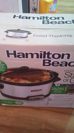 Hamilton Beach Programmable seat to go crock-pot for Sale in Ford City,  PA