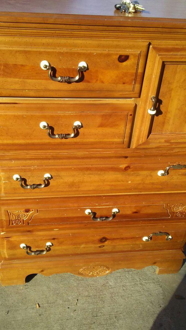 All wood dresser