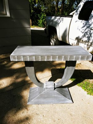 Industrial Style Entry Table / Sofa Table. Hand painted. 39W x 16D x 33.5H for Sale in Joliet, IL