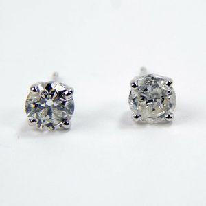 14k white gold .75 Ctw diamond stud earrings #10108 for Sale in Queens, NY