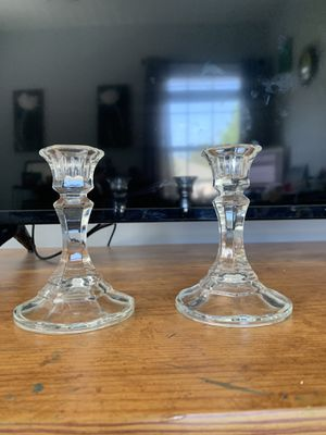 Partylite Crystal Candle Stick Holders for Sale in Holly Springs, NC