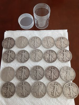 1 Roll of 1934 & 1935 Walking Liberty Half Dollars 90% Silver*20 CoinsTotal for Sale in Whittier, CA