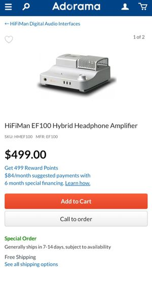 Hifiman Ef100 amplifier for Sale in New York, NY
