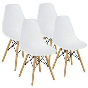4 Pcs Mid Century Modern DSW Dining Side Chairs for Sale in Chino, CA