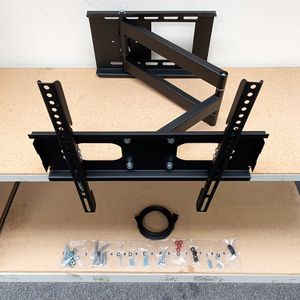 """New in box $33 HDMI and Full Motion TV Wall Mount Combo 23""""-50"""" Swivel Tilt for Sale in Whittier, CA"""
