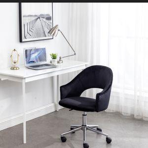 Black Velvet Vanity Desk Makeup Chair Rolling Black Chair for Sale in La Habra Heights, CA