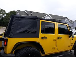 Parts for Jeep wrangler jk 2007@2018 Soft top and 4 set rims and tires for Sale in Mount Dora, FL