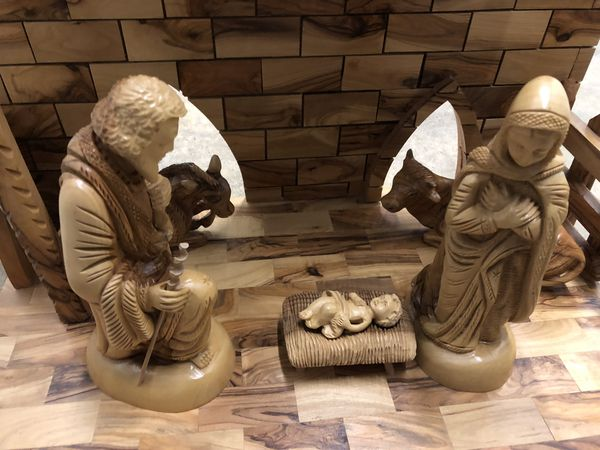 Large musical nativity set from the Holy Land