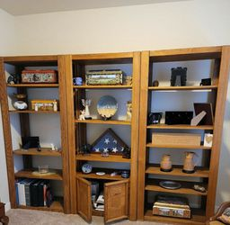 Solid Wood Three Sectional Bookshelves. for Sale in Puyallup,  WA
