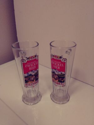 Two vintage German WICKEL BEER GLASS'S for Sale in Auburn, WA