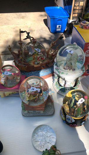 Vintage Disney Snow Globes and more for Sale in Commerce City, CO