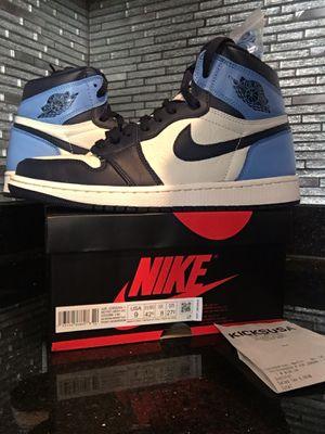 Nike Air Jordan 1 UNC size 9 for Sale in Springfield, VA