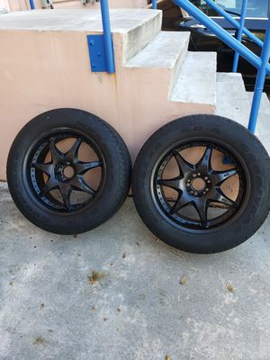 "20"" Wheels/Rims w/ tires(universal fit)(black/chrome) for Sale in Fort Lauderdale, FL"