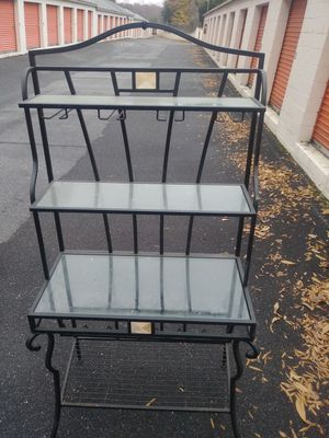 $Lowest Prices$ METAL W/GLASS SHELVES BAKERS RACK! for Sale in Winston-Salem, NC