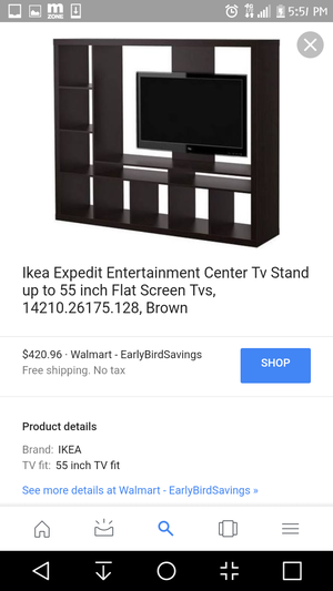 entertainment center tv stand with shelves like NEW for Sale in Denver, CO