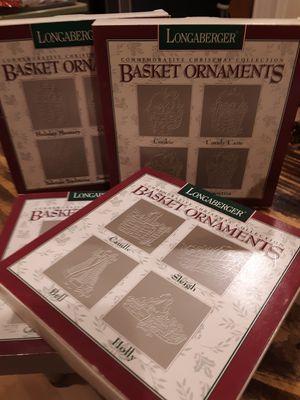 Longaberger Pewter Basket Ornaments for Sale in Snell, VA