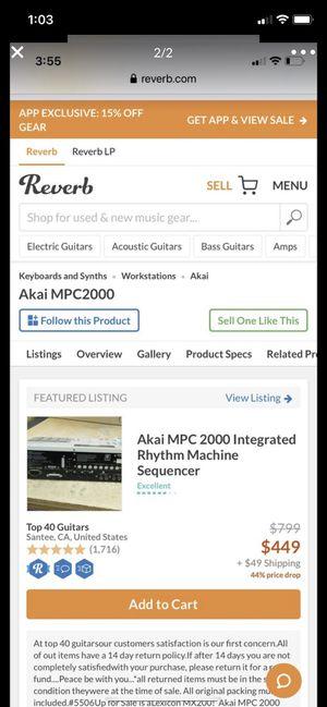 Akia Professional mpc2000 for Sale in Fontana, CA