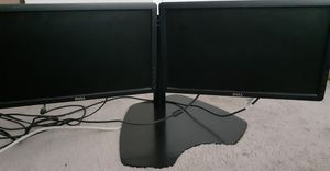 Double monitors with stand for Sale in Frederick, MD
