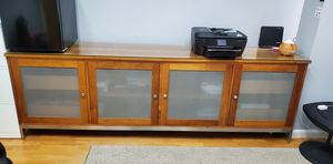 Solid wood with glass countertop for Sale in NJ, US