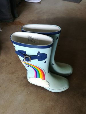 Rain boots size 13-1 and 4 for Sale in San Antonio, TX