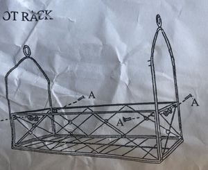 BLACK IRON HANGING POT/PLANT RACK for Sale in Long Beach, CA