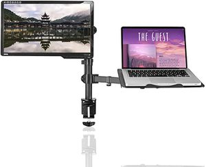 Full Motion Computer Monitor & Laptop Riser Desk Mount Stand, Height Adjustable (400mm), Fits 13-27 inch Screen & up to 17 inch Notebooks for Sale in Los Angeles, CA