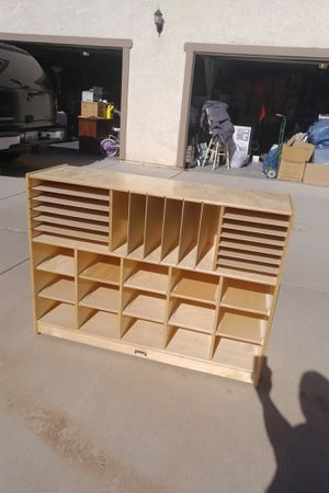 Jonti-craft Wooden shelves and cubbies organizationer for Sale in Apple Valley, CA
