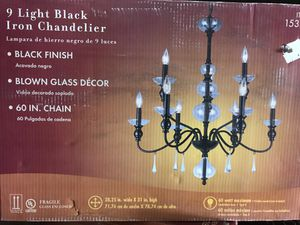 Iron chandelier light for Sale in Castro Valley, CA