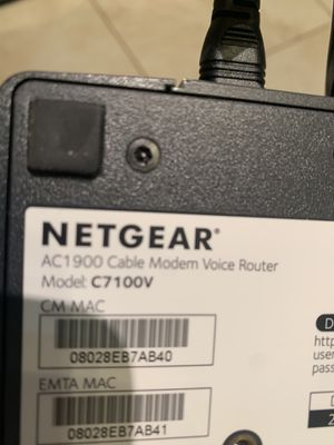 Netgear modem voice router. Ac1900 for Sale in Pembroke Pines, FL