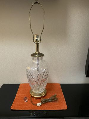 Crystal and brass antique lamp for Sale in Orange, CA