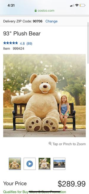 HUGE TEDDY BEAR for Sale in Bellflower, CA