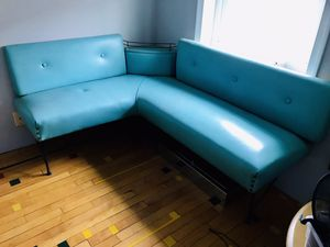 Mid century modern 1960s corner wall dining banquette for Sale in Philadelphia, PA