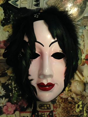 ceramic and feather decorative art mask for Sale in Nashville, TN