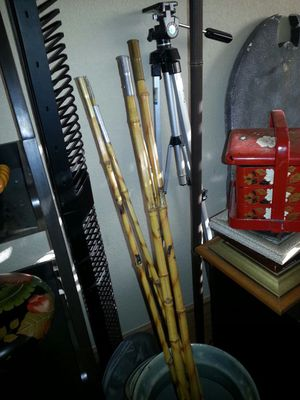 Genuine, Vintage set of 3 bamboo fishing poles for Sale in Las Vegas, NV
