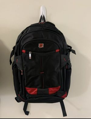 Red and Black Water Resistant Travel Laptop Notebook School Backpack for Sale in Ontario, CA