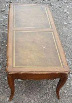 Vintage Large Leather Top Coffee Table for Sale in Amherst,  OH