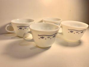 Four Pyrex Morning Blue coffee cups for Sale in Broken Arrow, OK