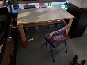 iKea table and chair. Adjustable height for kids for Sale in Elk Grove, CA