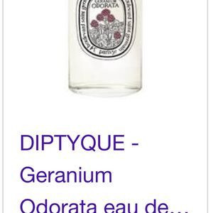 Diptyque Geranium Odorata perfume 100 Ml for Sale in Orange, CA