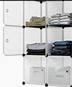 6 Cube Portable Closet Storage Organizer W / Doors Measures 28 by 14 by 42 inches (LxWxH), for Sale in Ontario, CA