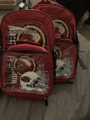 NFL Cardinals backpack with lunch pouch for Sale in Mesa, AZ