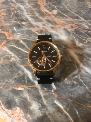 Bulova men's 97A109 Automatic Self Winding Open Heart Rose Gold Leather Watch for Sale in Vienna, VA