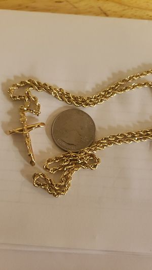 14k real gold rope chain for Sale in Cambridge, MA