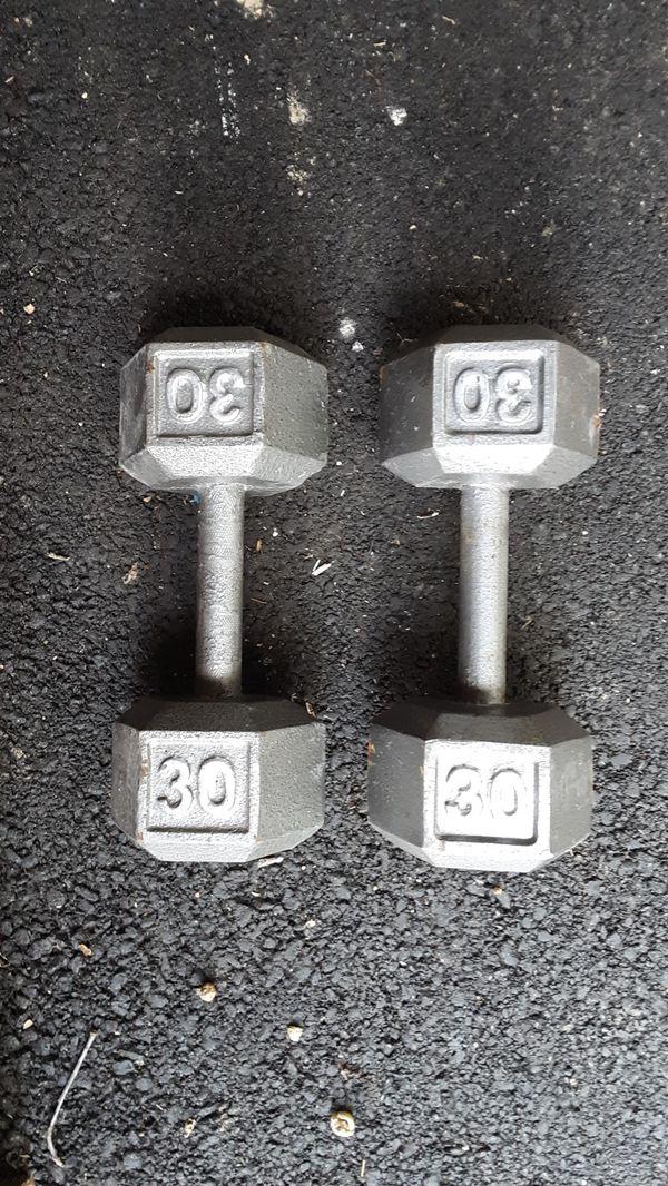 30 lbs dumbbells