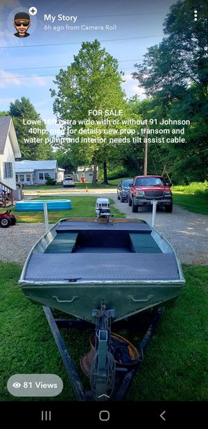 Lowe jon boat for Sale in Edwardsville, IL
