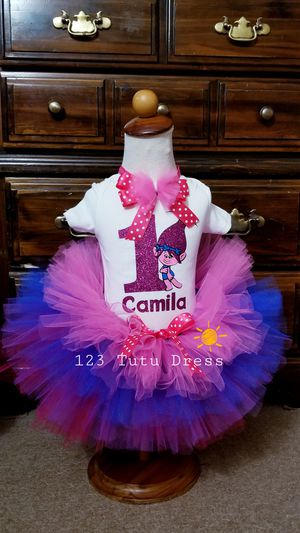 Trolls Multi layers Tutu Outfit for Sale in El Monte, CA